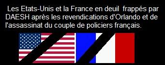 Après Orlando, DAESH revendique l'assassinat du couple de policiers des Yvelines près de Paris, France