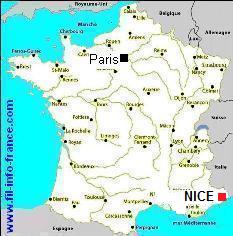 nice france carte - Image